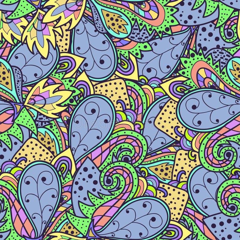 Decoratief origineel naadloos patroon stock illustratie