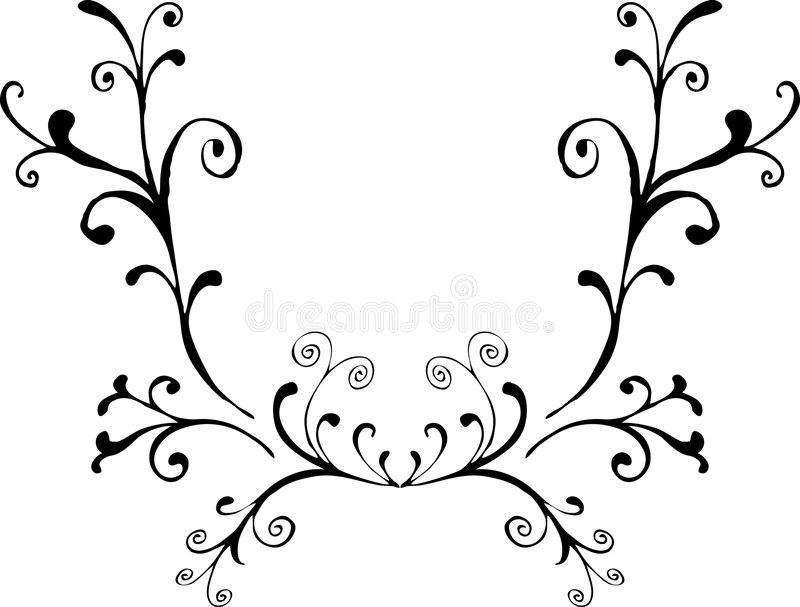 Decoratief ornament 4 royalty-vrije illustratie