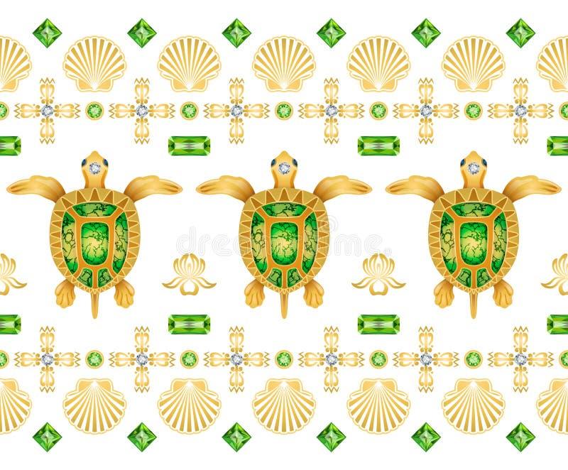 Decoratief ornament van schildpadden stock foto