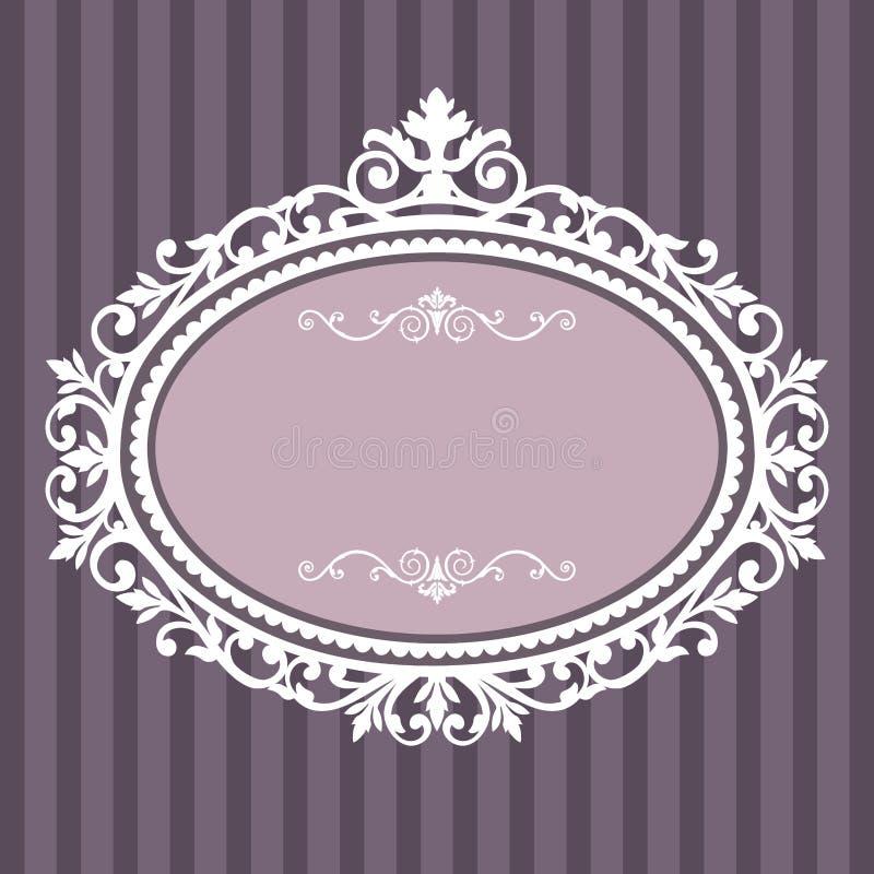 Decoratief ovaal uitstekend frame stock illustratie