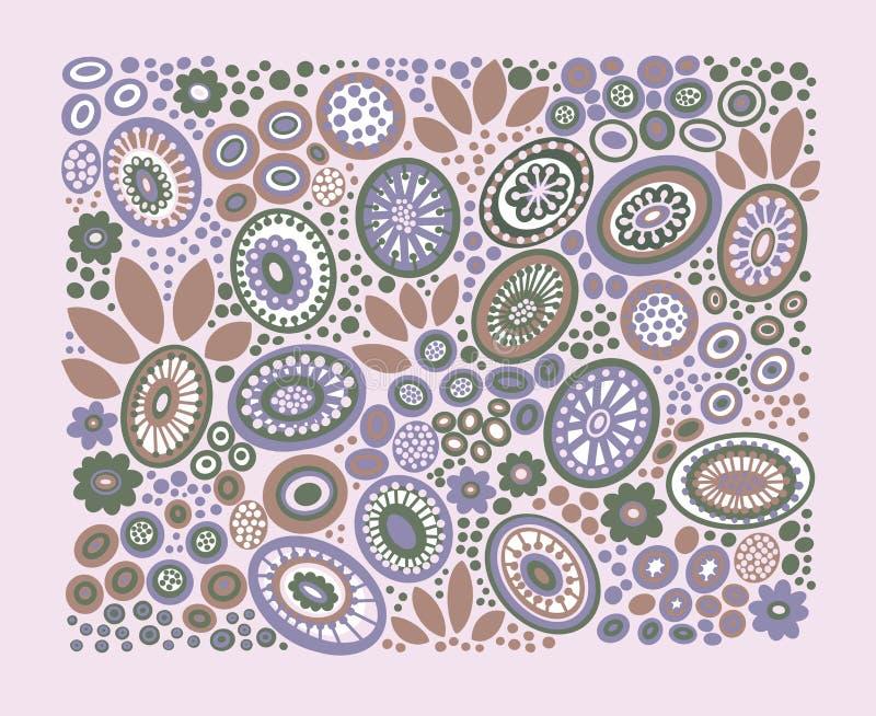 Decoratief patroon op lichtrose achtergrond vector illustratie