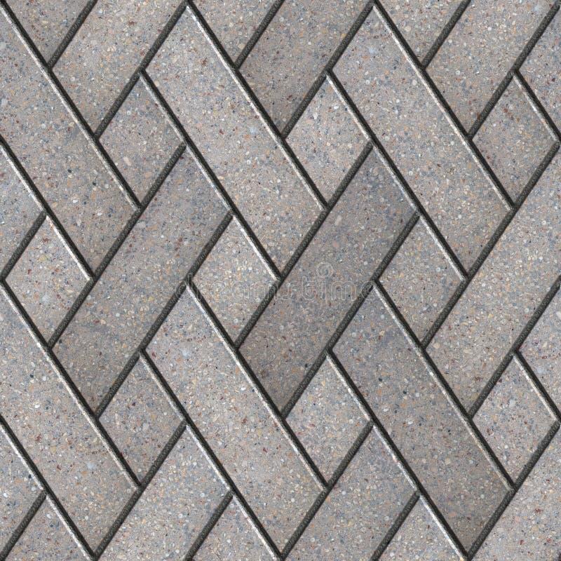 Decoratief Patroonfragment van Gray Paving Slabs stock foto's
