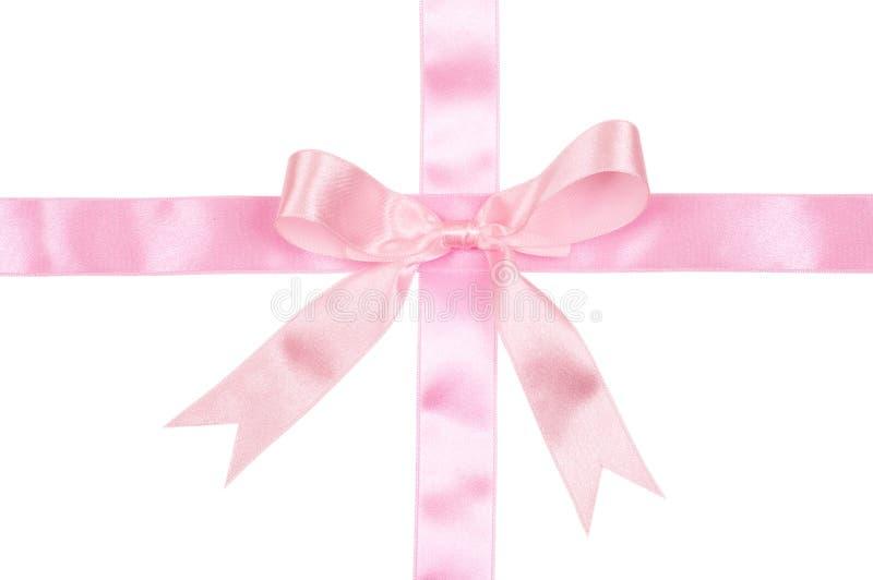 Decoratief roze lint stock afbeelding