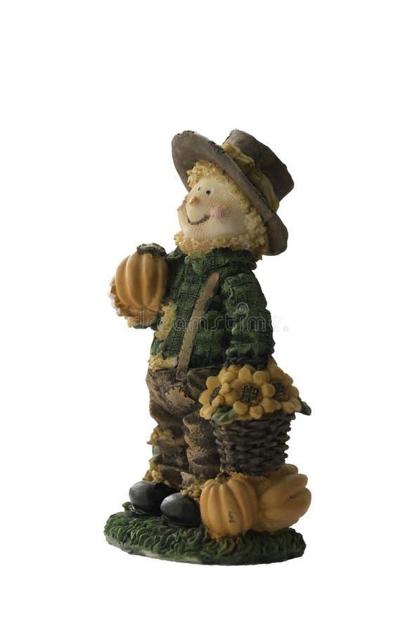 Decoratief stuk speelgoed beeldhouwwerk voor de tuin herinnering Ge?soleerdj op witte achtergrond royalty-vrije stock foto