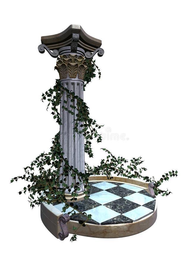 Decoratief tuinvoetstuk   stock illustratie