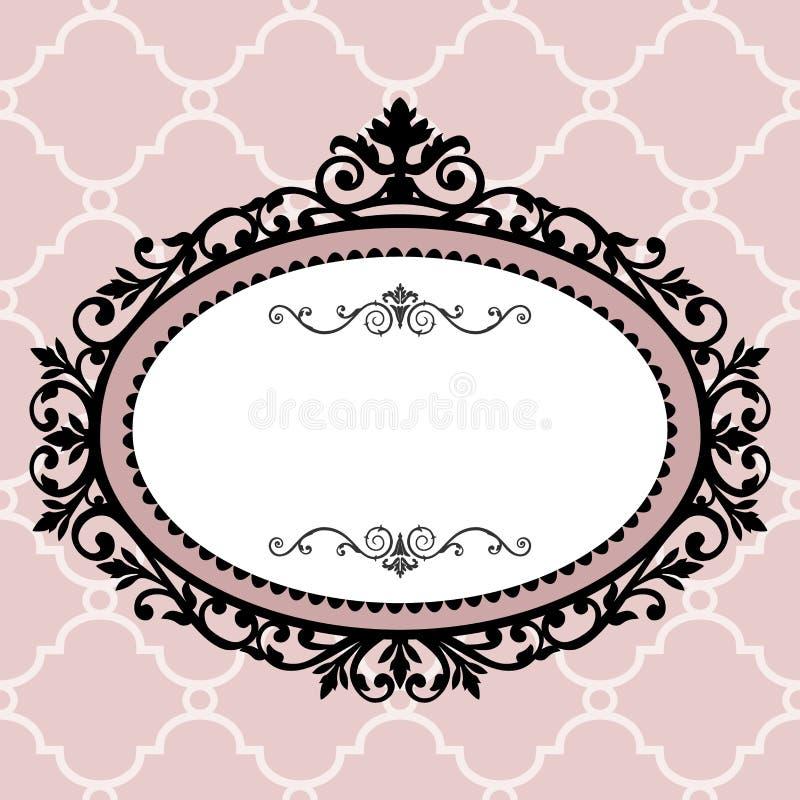 Decoratief uitstekend frame royalty-vrije illustratie