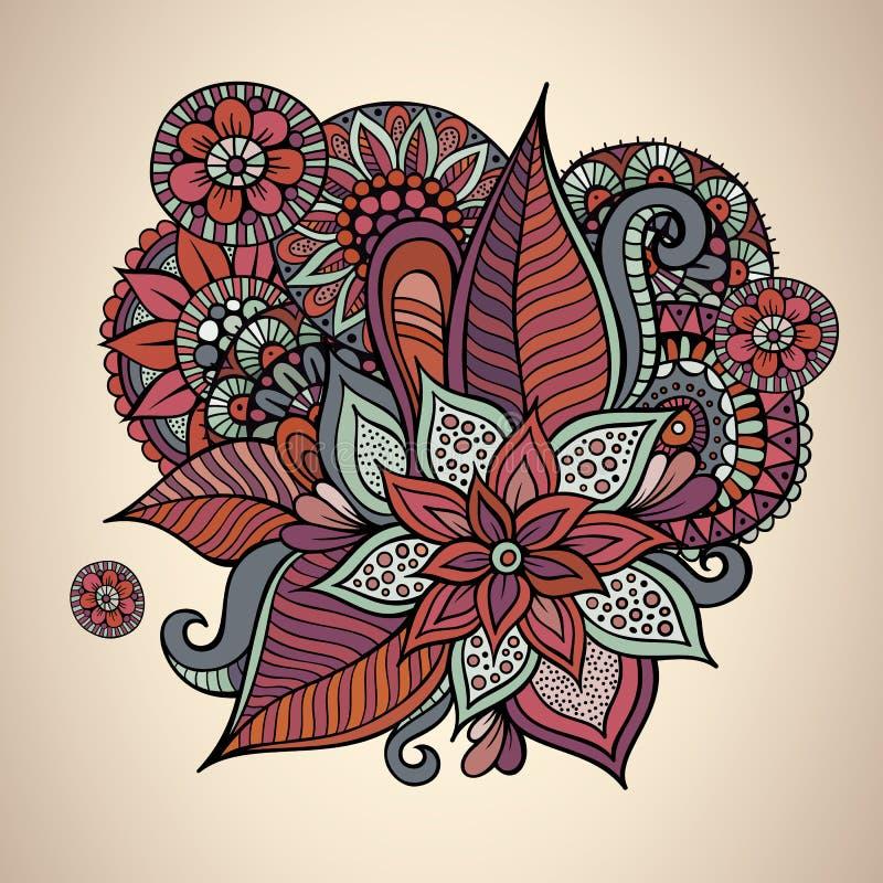 Decoratief vector bloemen uitstekend kaartontwerp vector illustratie