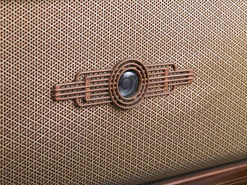 Decoratief voorpaneel van een oude radio vector illustratie