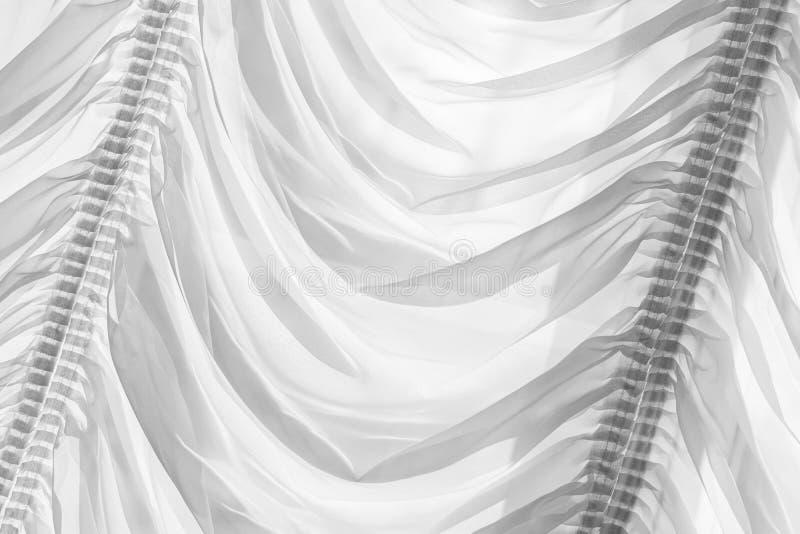 Decoratief wit Tulle met vouwen royalty-vrije stock foto's
