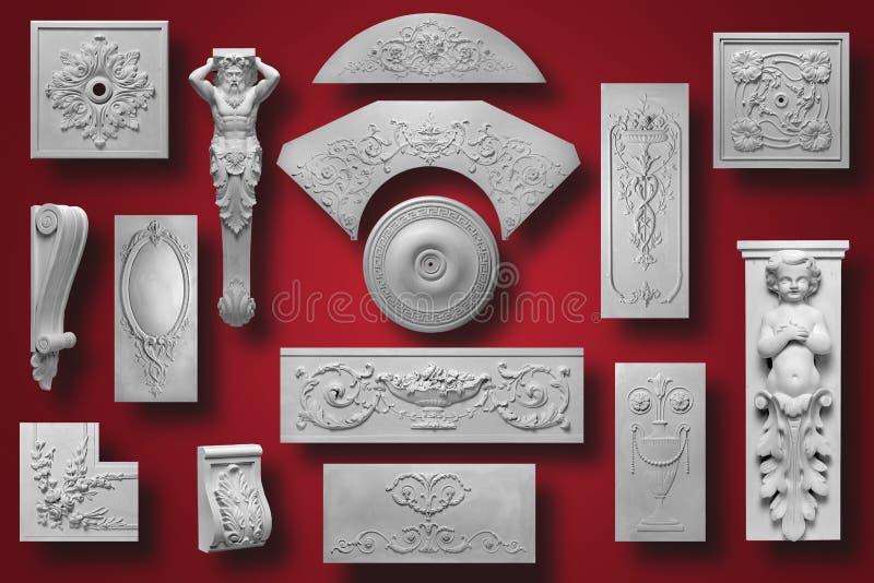 Decoratiepunt van wit pleister wordt gemaakt dat vector illustratie