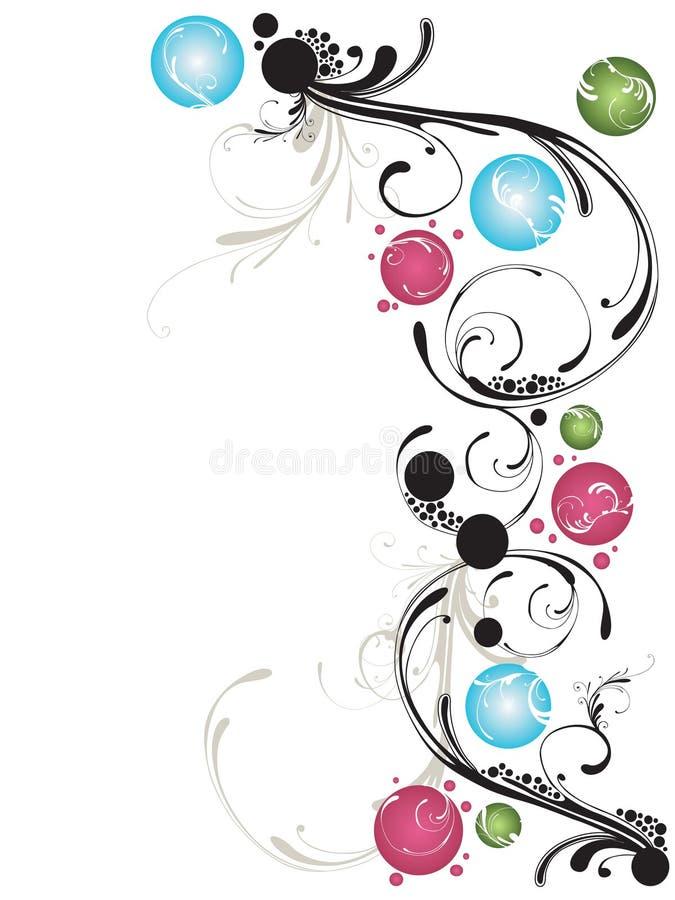 Decoratieve achtergrond royalty-vrije illustratie