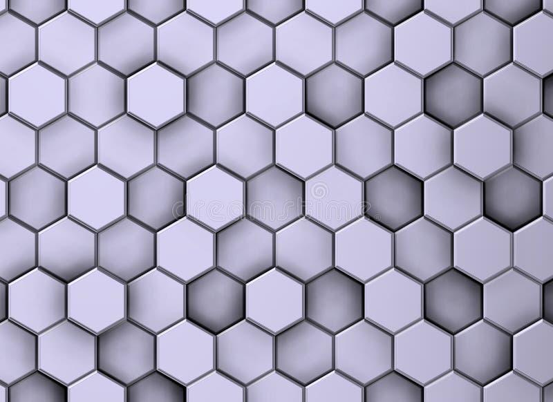 Decoratieve achtergrond van textuur met witte zeshoeken stock illustratie