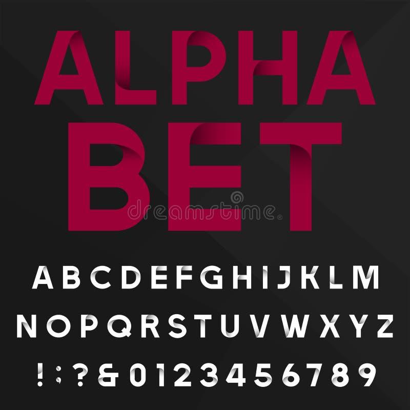 Decoratieve alfabet vectordoopvont vector illustratie