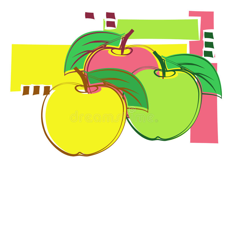 Decoratieve appelen stock illustratie