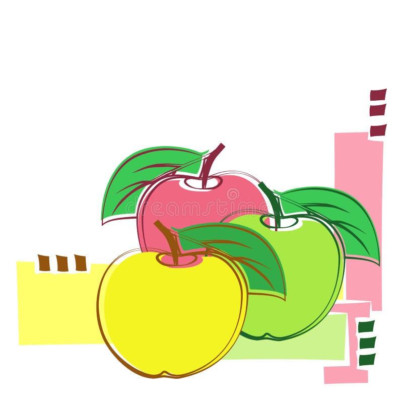Decoratieve appelen vector illustratie