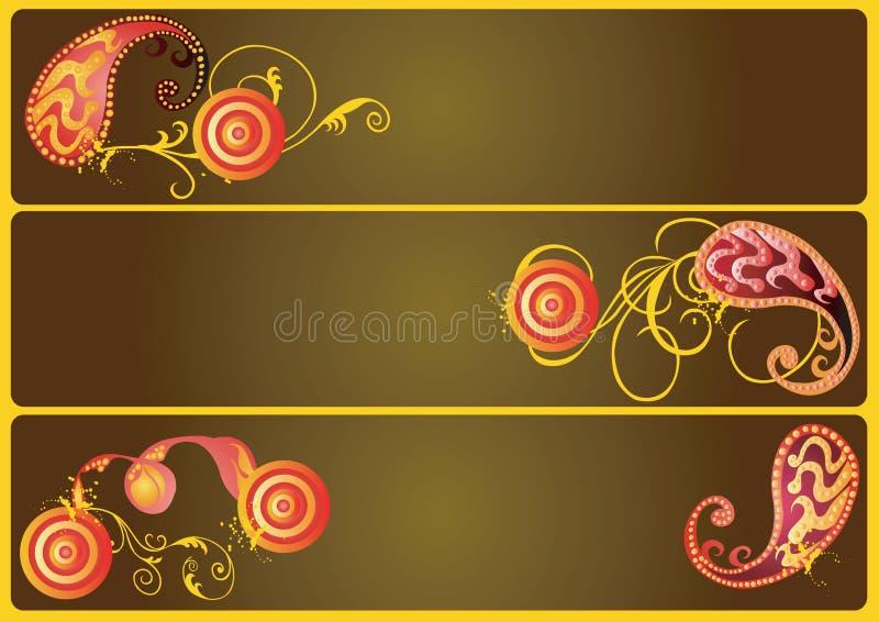 Decoratieve banners royalty-vrije illustratie