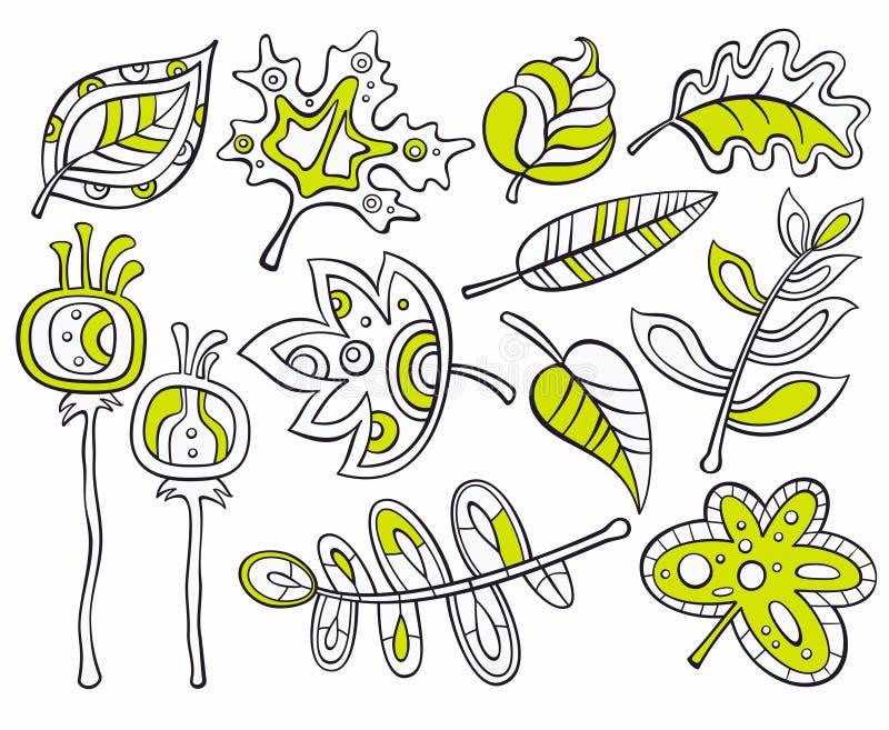 Decoratieve bladeren royalty-vrije illustratie