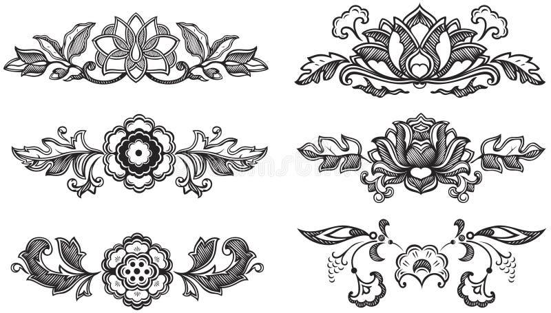 Decoratieve bloemen stock illustratie