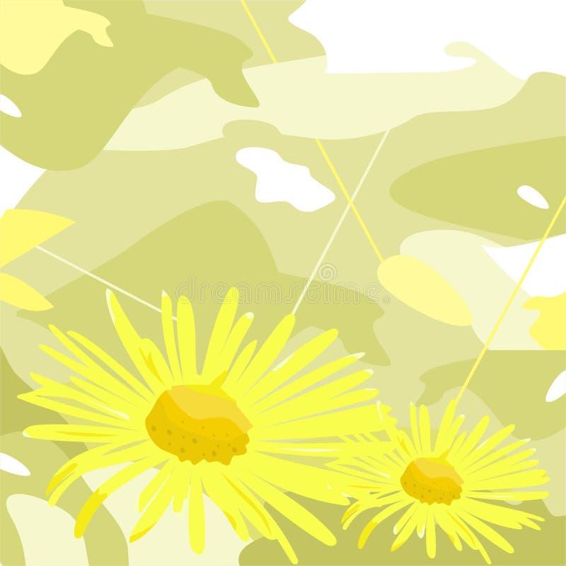 Decoratieve bloemen royalty-vrije illustratie