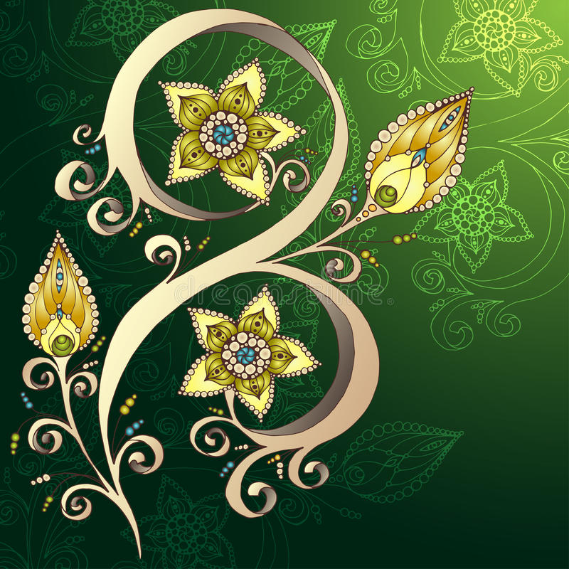 Download Decoratieve Bloemenachtergrond Met Bloemen Stock Illustratie - Illustratie bestaande uit bloem, illustratie: 39103072
