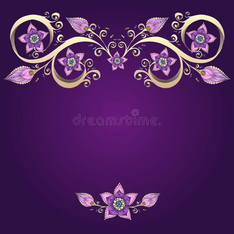 Download Decoratieve Bloemenachtergrond Met Bloemen Stock Illustratie - Illustratie bestaande uit luxe, modern: 39103569