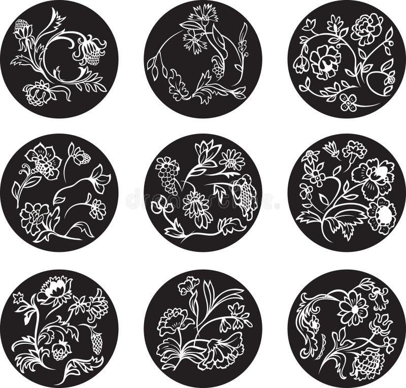 Decoratieve bloemenelementen stock illustratie