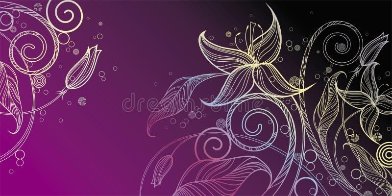 Decoratieve bloemenillustratie royalty-vrije illustratie