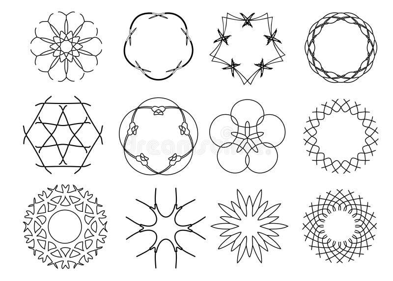 Decoratieve BloemenPatronen vector illustratie