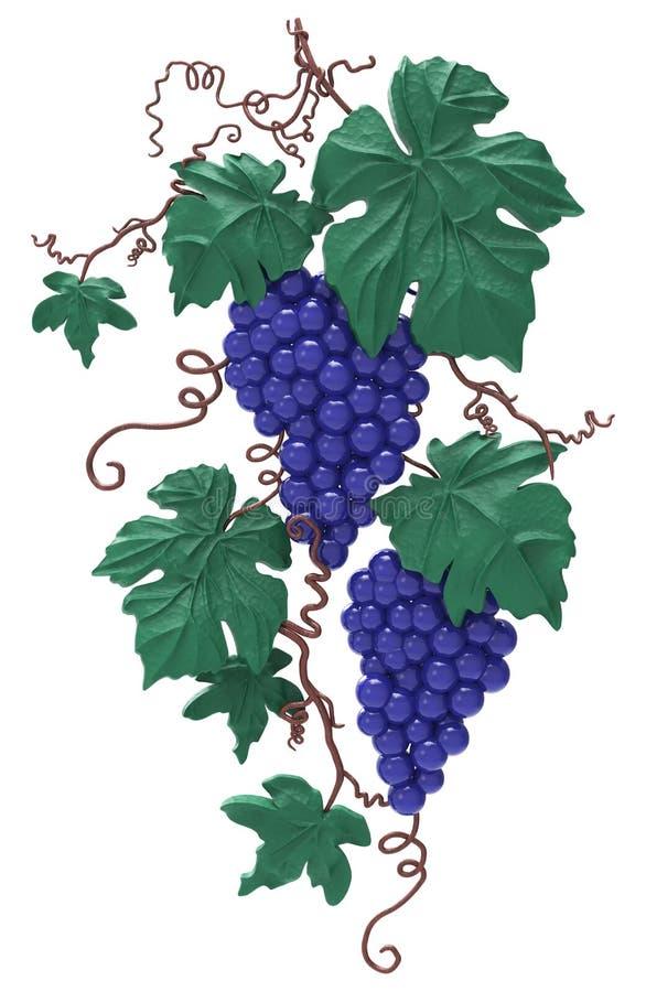 Decoratieve bos van druiven royalty-vrije illustratie