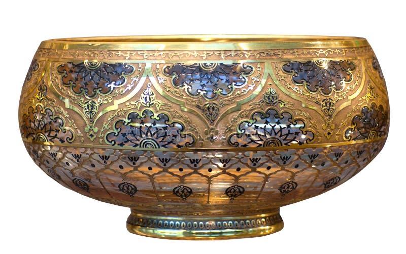 Decoratieve bowll, oosterse die herinnering op witte achtergrond wordt geïsoleerd stock foto's