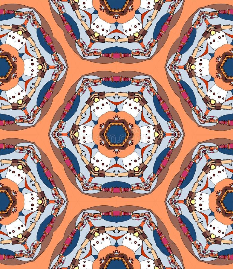Decoratieve caleidoscoop royalty-vrije illustratie
