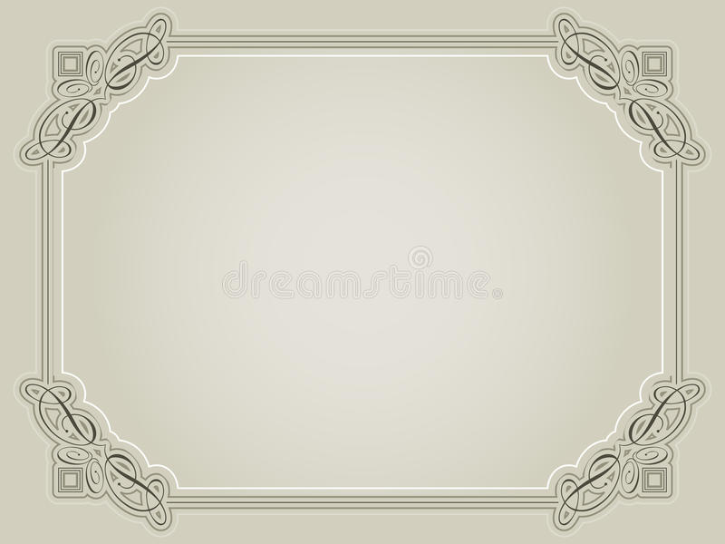Decoratieve certificaatachtergrond vector illustratie
