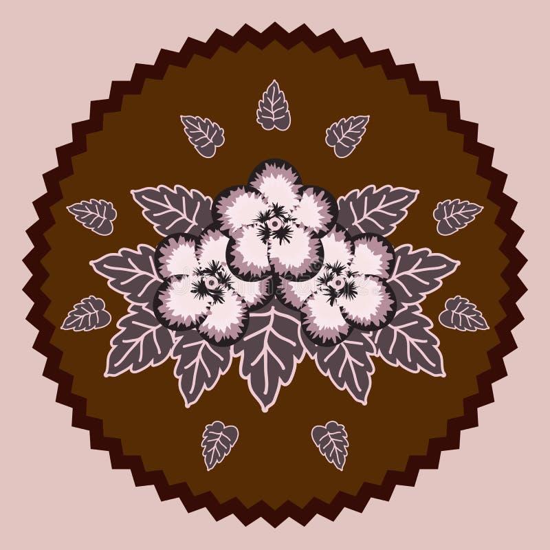 Decoratieve chocoladebloemen royalty-vrije illustratie