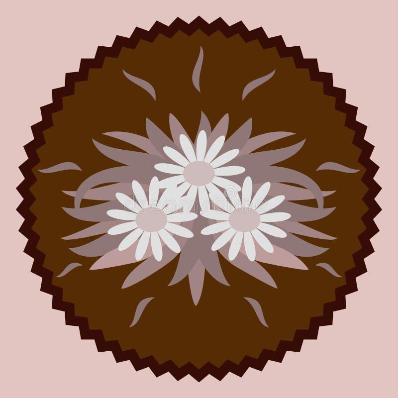 Decoratieve chocoladebloemen vector illustratie