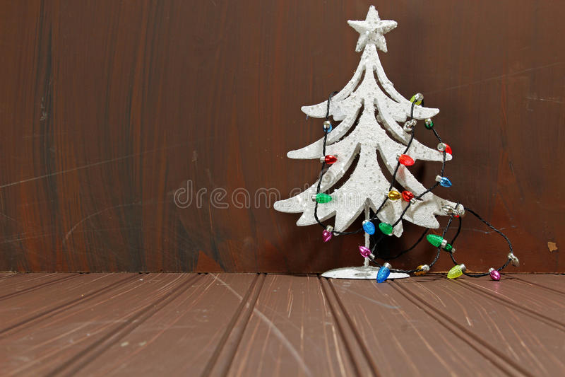Decoratieve Chritmas-boom royalty-vrije stock afbeelding