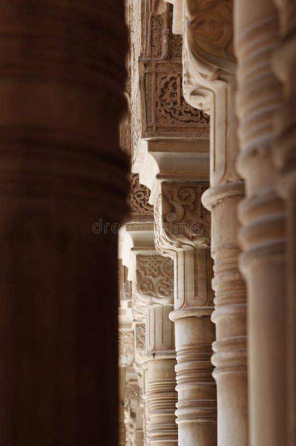 Decoratieve de bouwkolommen royalty-vrije stock afbeeldingen