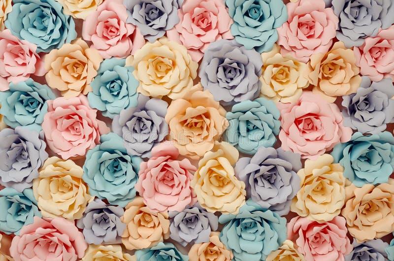Decoratieve document bloemen stock foto