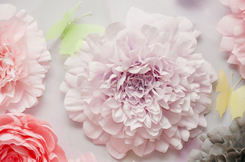Decoratieve document bloemen stock fotografie