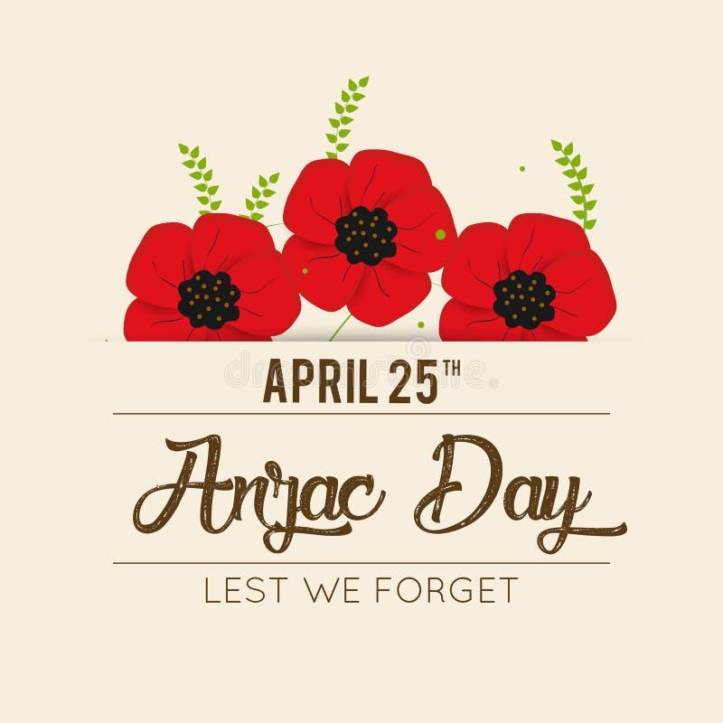 Decoratieve document papaver voor Anzac Day stock illustratie