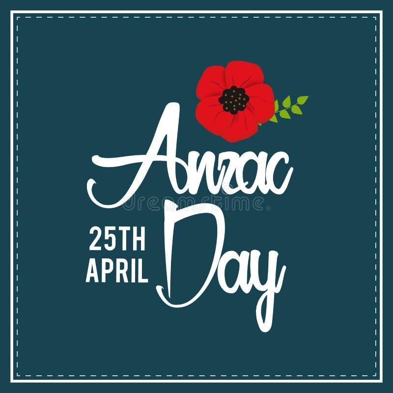 Decoratieve document papaver voor Anzac Day royalty-vrije illustratie
