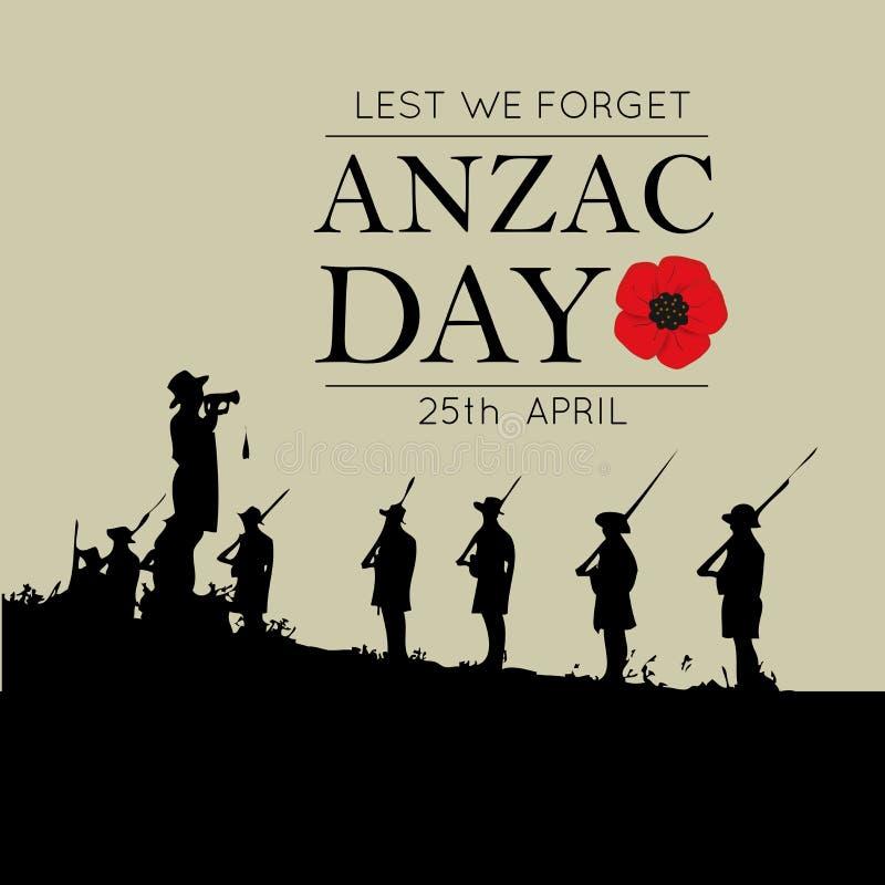 Decoratieve document papaver voor Anzac Day vector illustratie