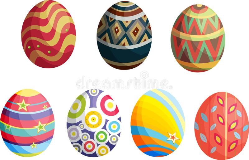 Decoratieve eieren royalty-vrije illustratie