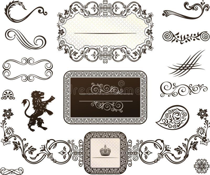 Decoratieve elementen - Koninklijke Stijl stock foto's