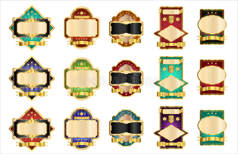 Decoratieve Etiketten vector illustratie