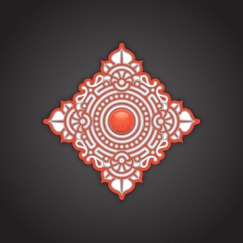 Download Decoratieve Etnische Ornamentachtergrond Stock Illustratie - Illustratie bestaande uit grafisch, koraal: 39101852