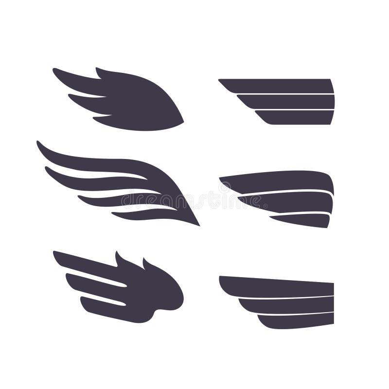 Decoratieve Geïsoleerde Vleugels royalty-vrije illustratie