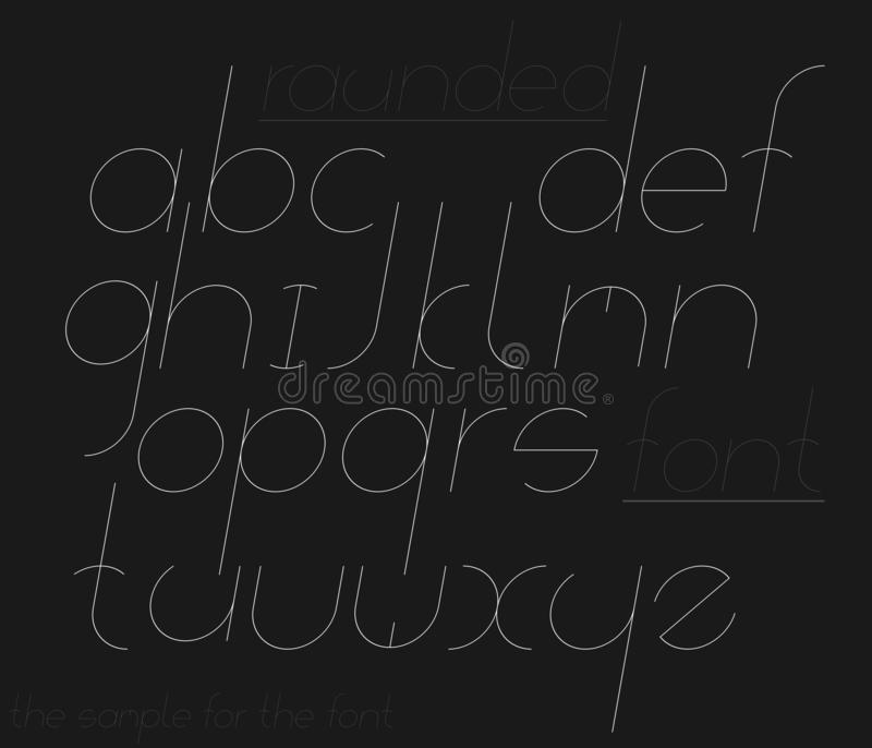 Decoratieve gehelde doopvont Reeks brieven vector illustratie