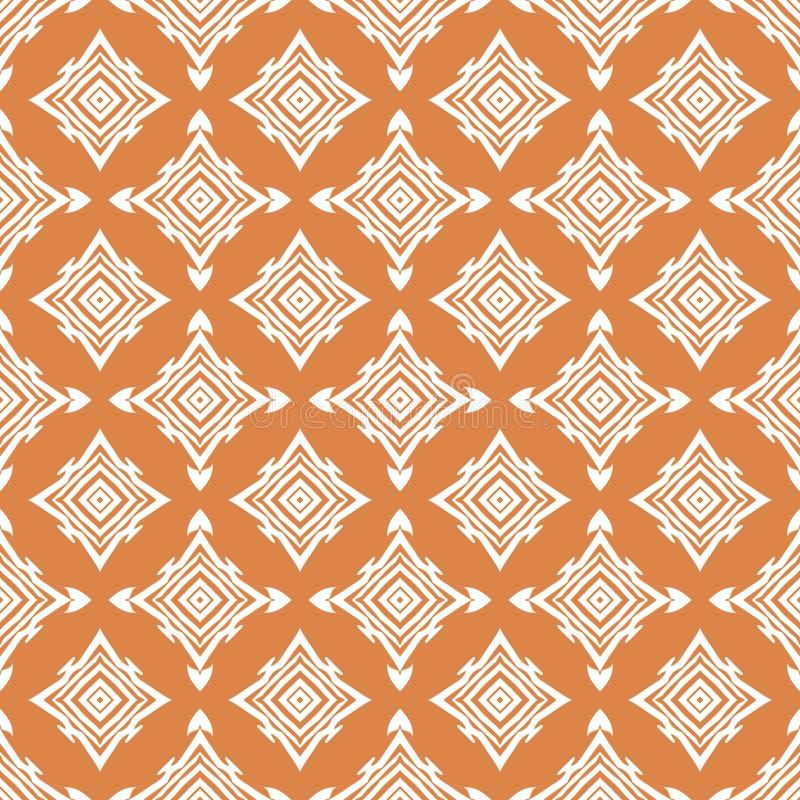 Decoratieve geometrische naadloze patronen stock illustratie