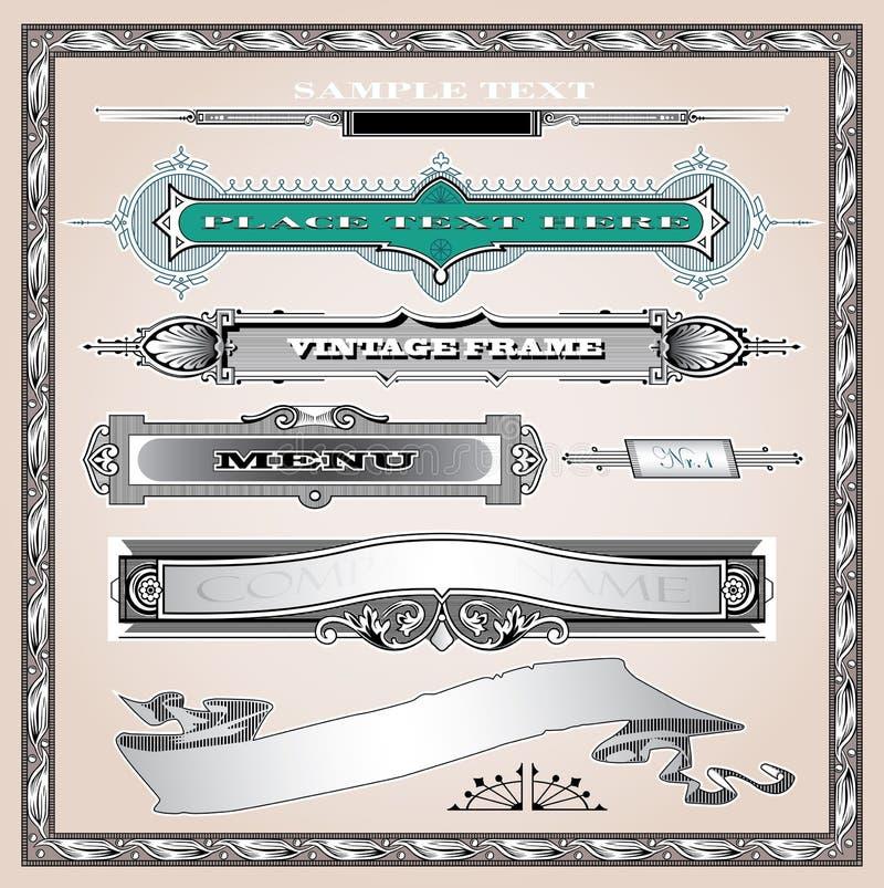 Decoratieve geplaatste elementen royalty-vrije illustratie
