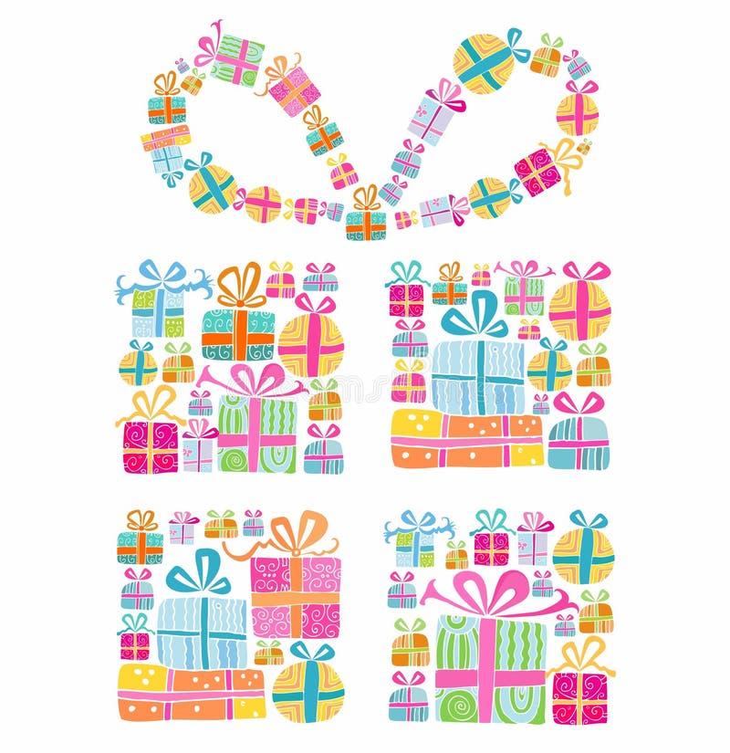 Decoratieve giftdoos stock illustratie